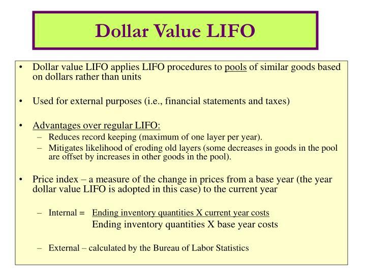 Dollar Value LIFO