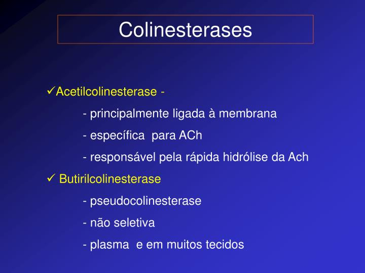 Colinesterases