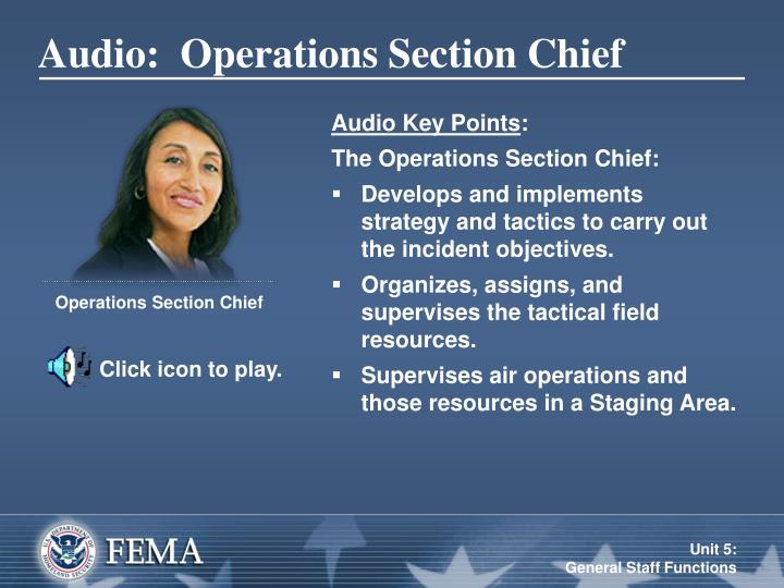 Audio:  Operations Section Chief