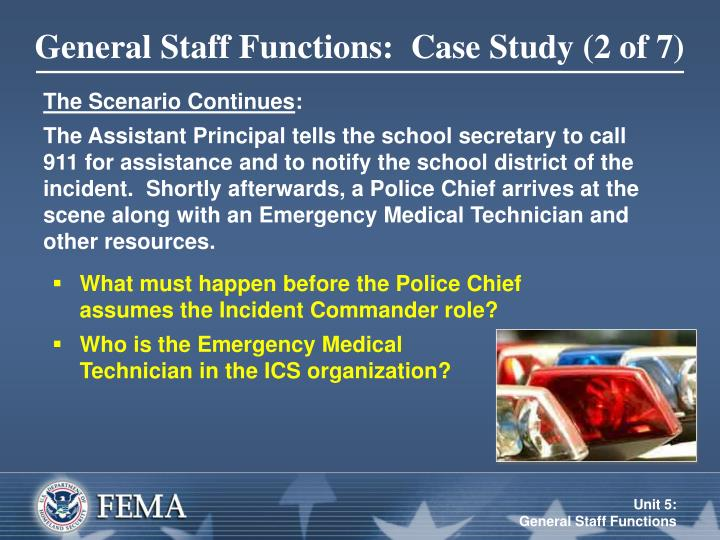 General Staff Functions:  Case Study (2 of 7)