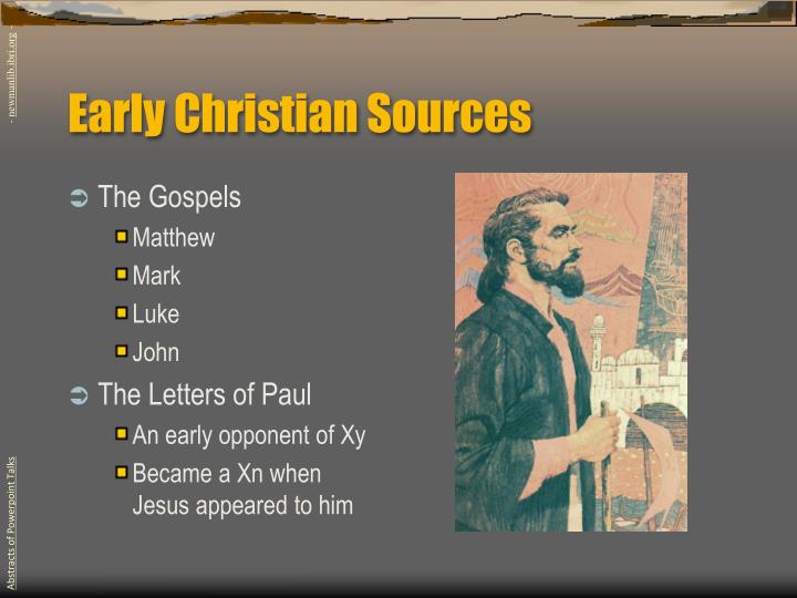 Early Christian Sources