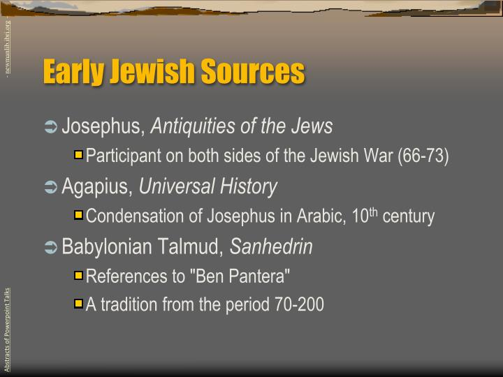Early Jewish Sources