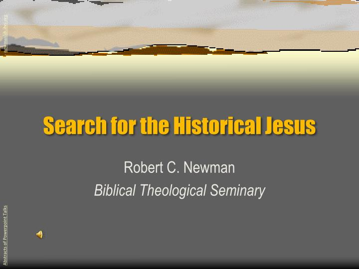 search for the historical jesus
