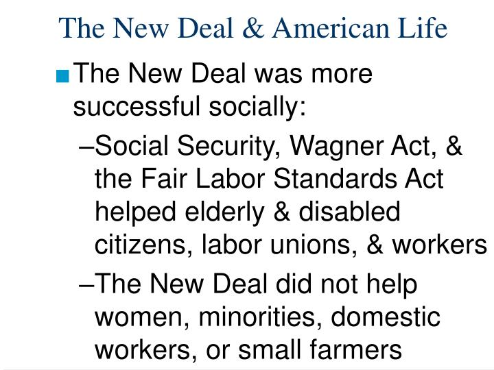 Was the new deal effective