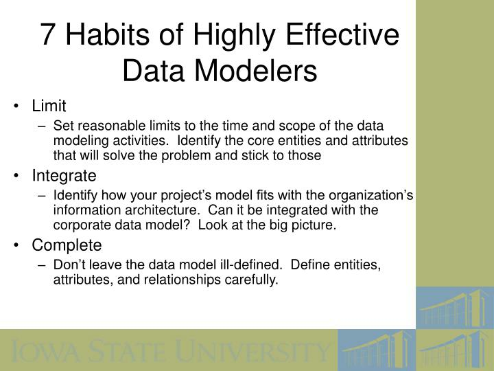 7 Habits of Highly Effective Data Modelers
