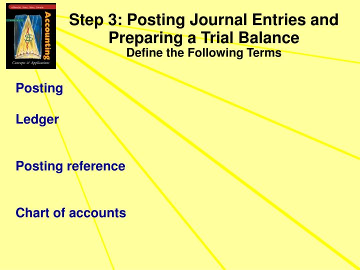 Step 3: Posting Journal Entries and Preparing a Trial Balance