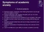 symptoms of academic anxiety3
