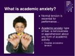 what is academic anxiety