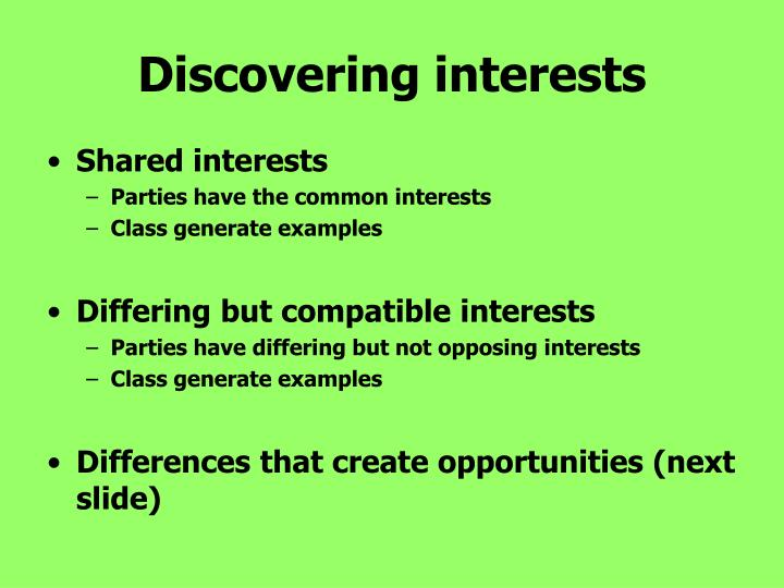 Discovering interests