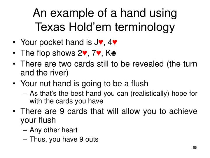 An example of a hand using