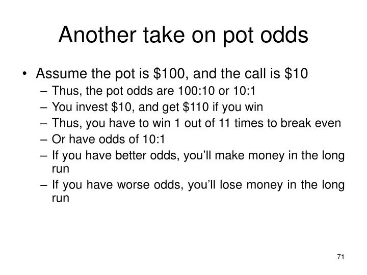 Another take on pot odds