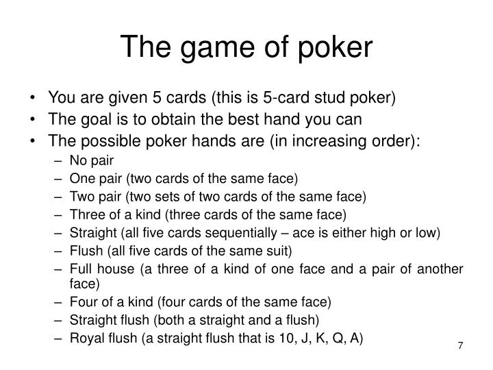 The game of poker