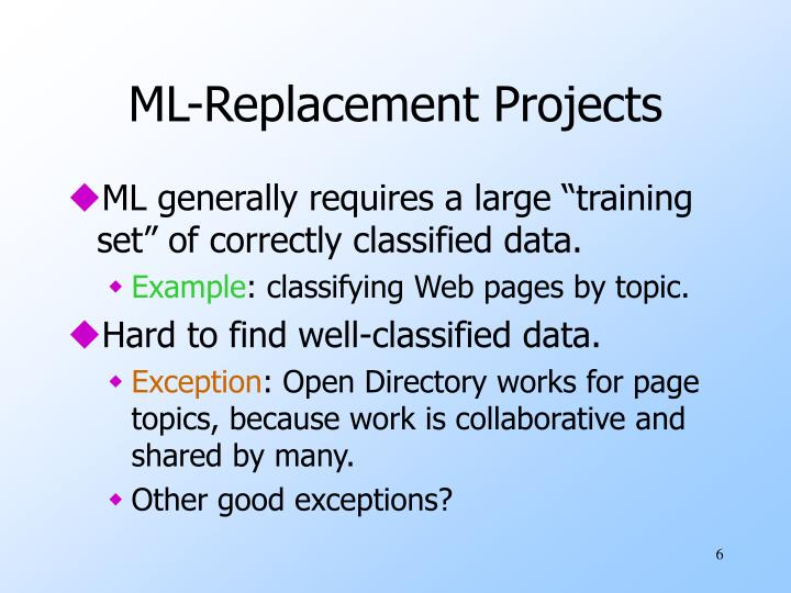 ML-Replacement Projects