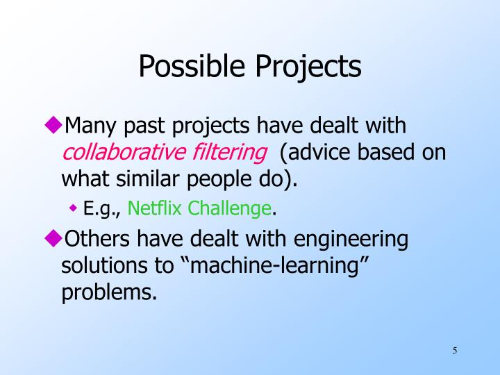 Possible Projects