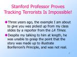 stanford professor proves tracking terrorists is impossible