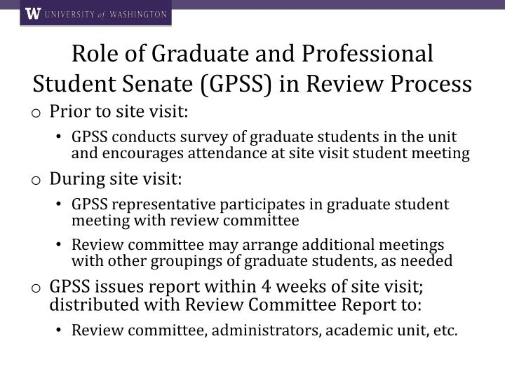 Role of Graduate and Professional