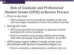 role of graduate and professional student senate gpss in review process