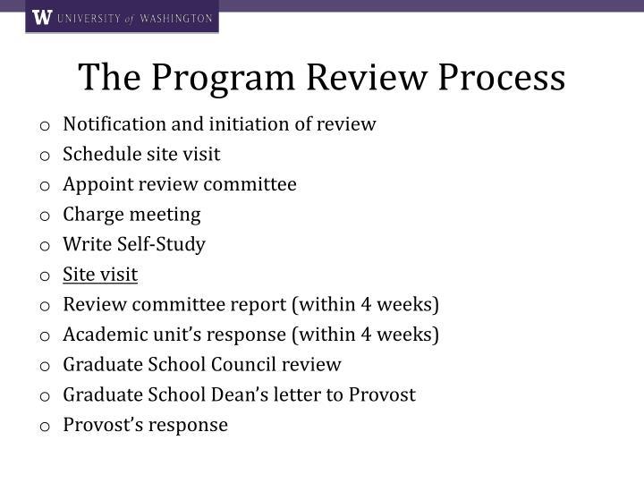 The Program Review Process