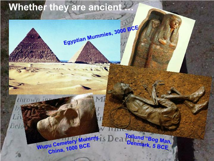 Whether they are ancient …