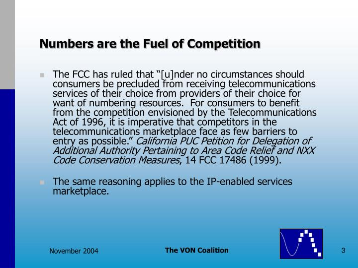 Numbers are the Fuel of Competition