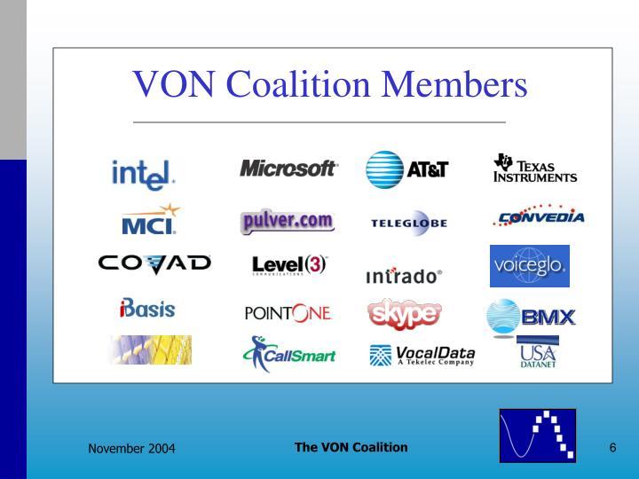 VON Coalition Members