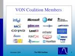 von coalition members