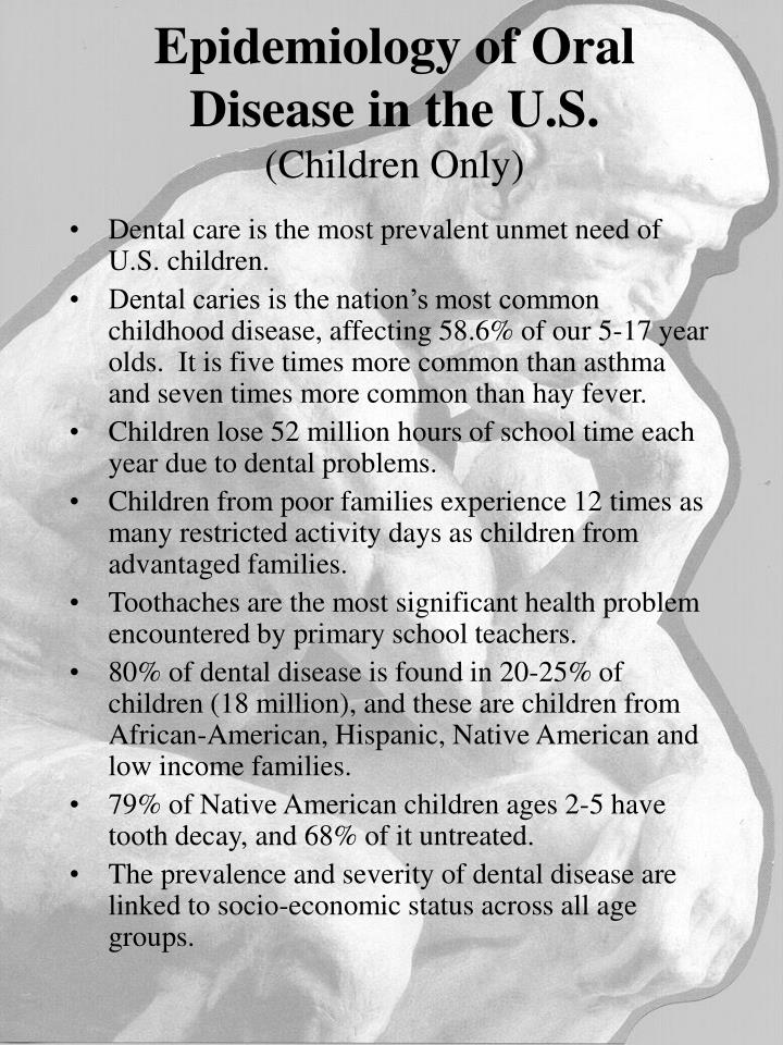 Epidemiology of Oral Disease in the U.S.
