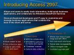 introducing access 2007