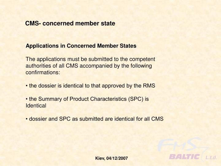 CMS- concerned member state