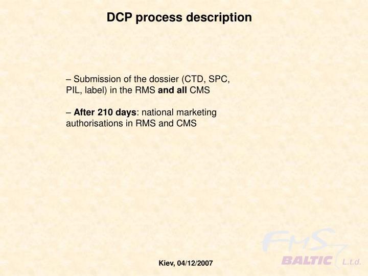DCP process description