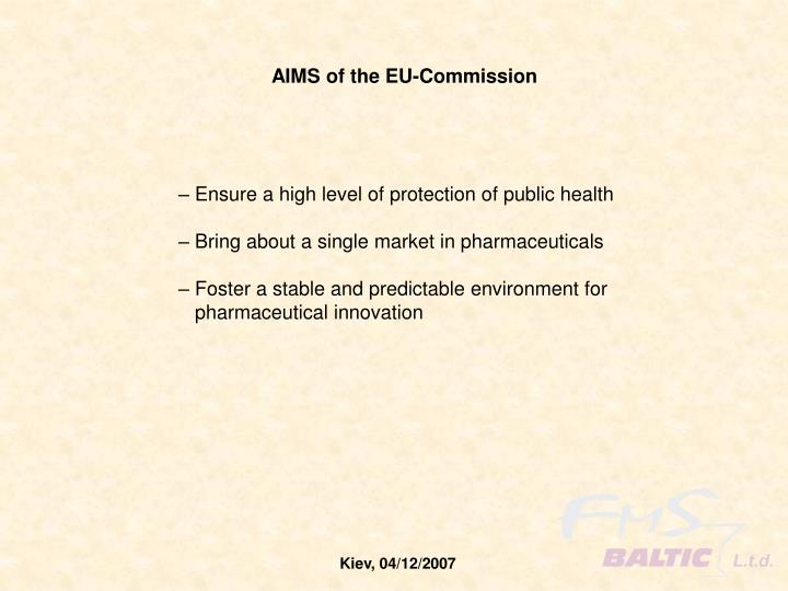 AIMS of the EU-Commission