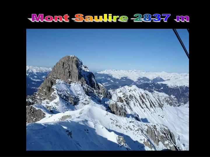 Mont Saulire 2837 m