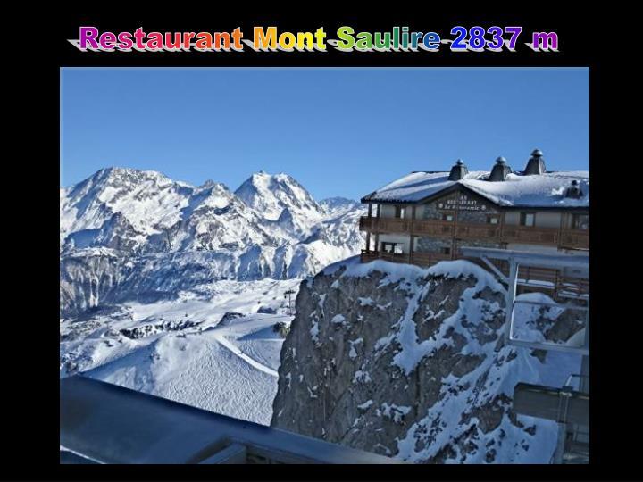 Restaurant Mont Saulire 2837 m