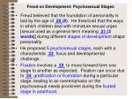 freud on development psychosexual stages