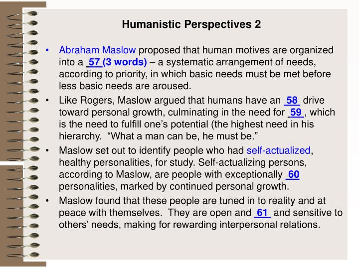 Humanistic Perspectives 2