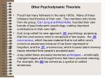 other psychodynamic theorists