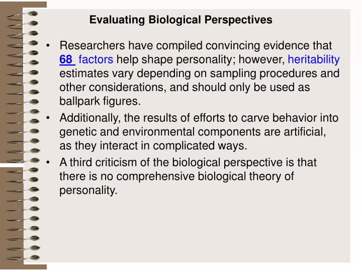 Evaluating Biological Perspectives