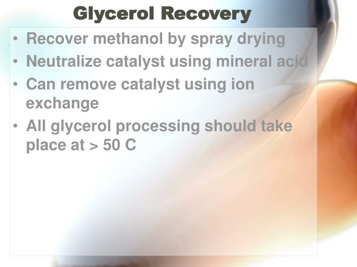 Glycerol Recovery