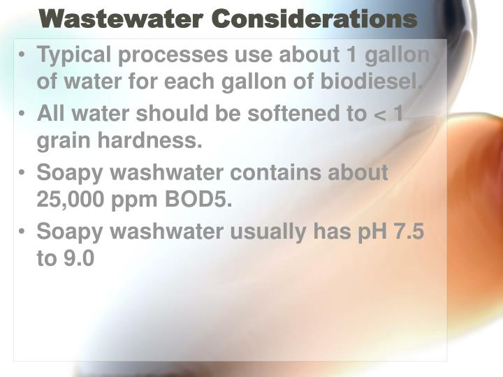 Wastewater Considerations