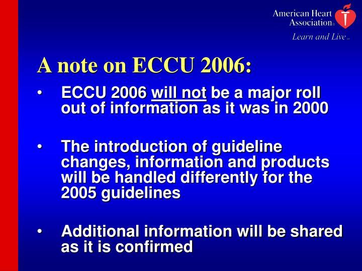 A note on ECCU 2006: