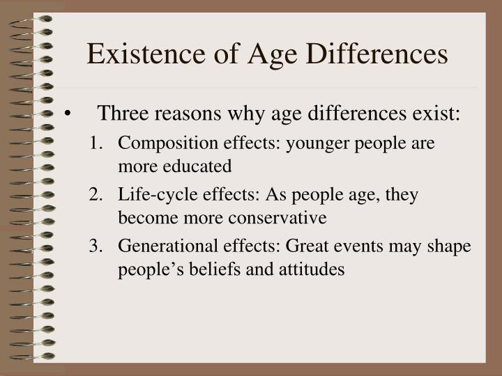Existence of Age Differences