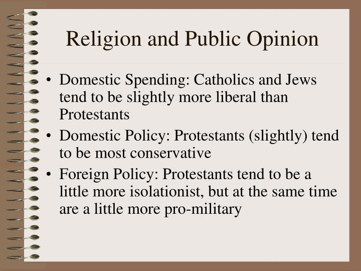 Religion and Public Opinion