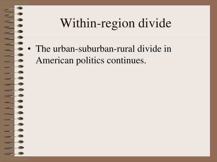Within-region divide