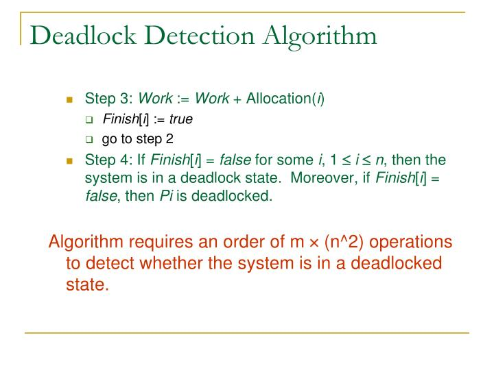 Deadlock Detection Algorithm