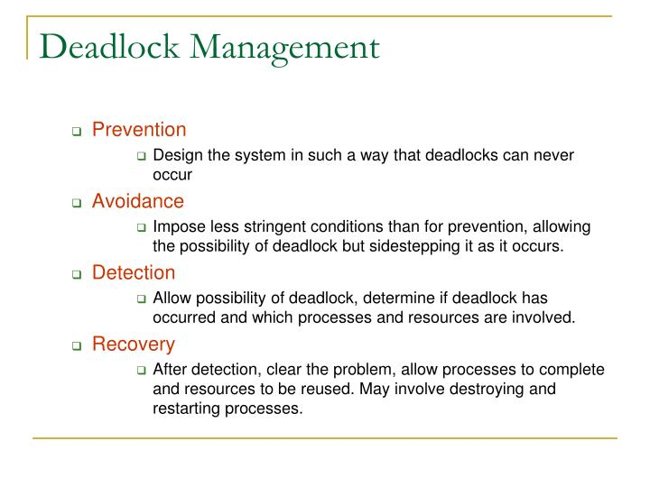Deadlock Management