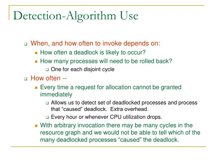 Detection-Algorithm Use