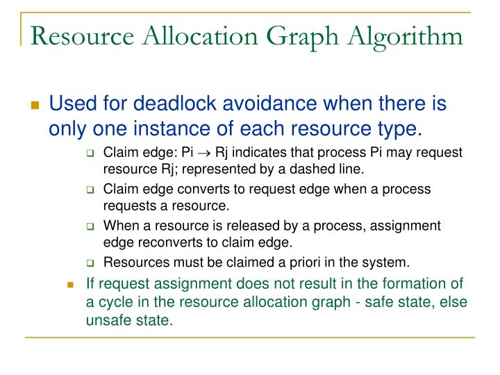 Resource Allocation Graph Algorithm
