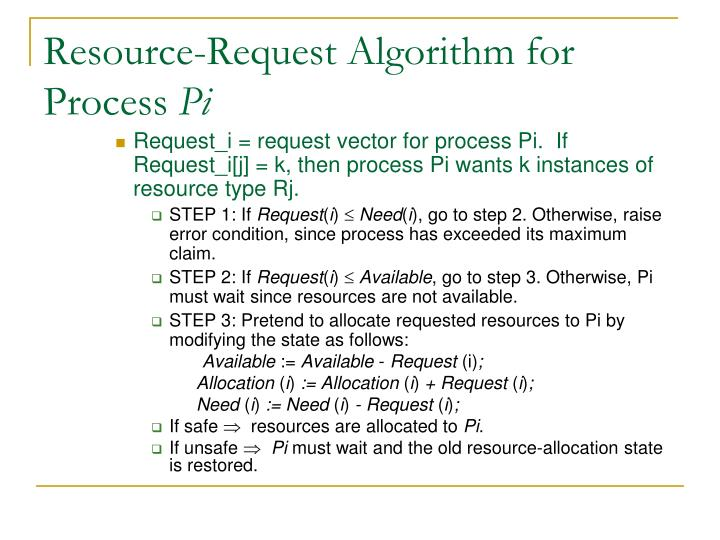 Resource-Request Algorithm for Process
