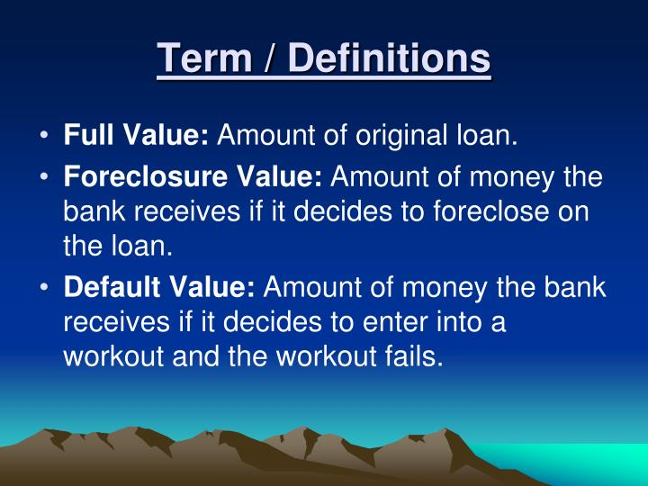 Term / Definitions