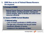hrd base on act of national human resource development